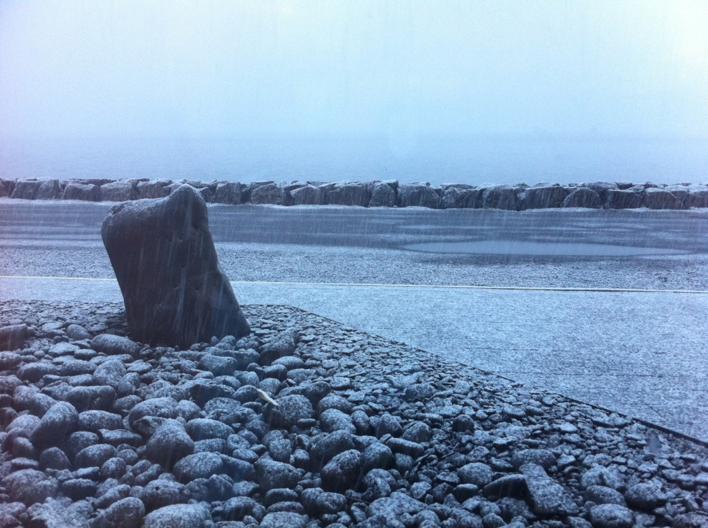 Snowing in Patreksfjörður